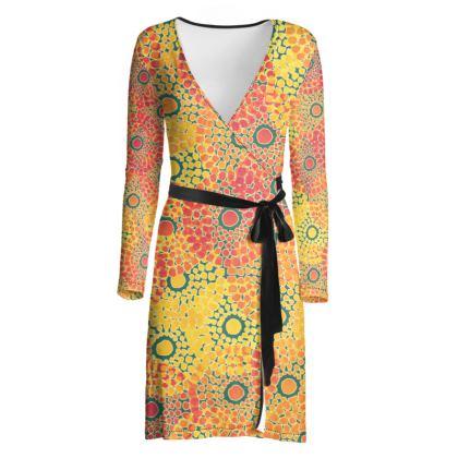 Feel Tribal Wrap Dress