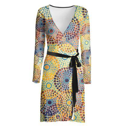 Tribal Fashion Wrap Dress