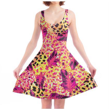 Wild Fashion in the Tropics Skater Dress