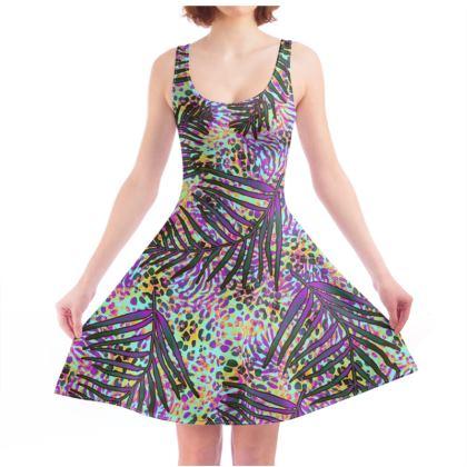 Tropical Jungle Skater Dress