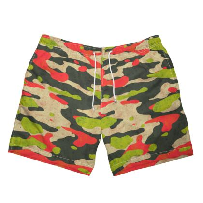 Beach Camo Swim Shorts