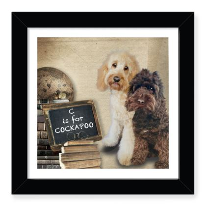 """C is for COCKAPOO 8"""" square print"""