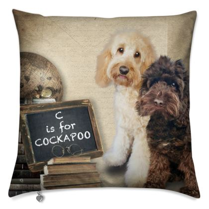 """C is for COCKAPOO 16""""x16"""""""