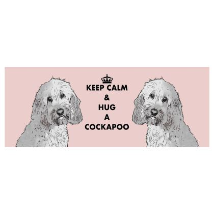Pink Cockapoo Large Bone China Mug