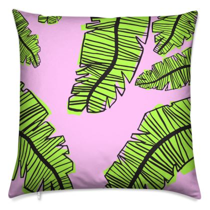 Plants on Pink Cushion Placement Print