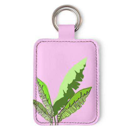 Plants on Pink Keyring