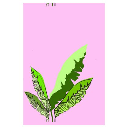 Plants on Pink Luggage Tag