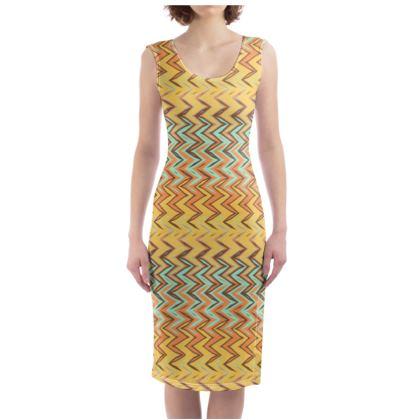 Tribal Zigzags Bodycon Dress