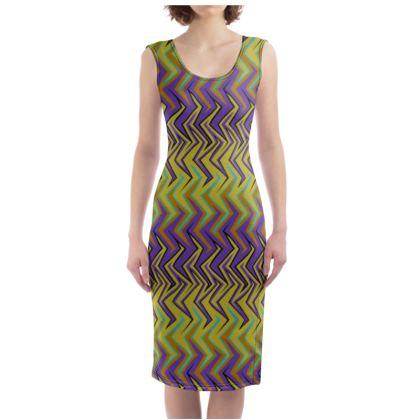 Tribal Stripes Bodycon Dress