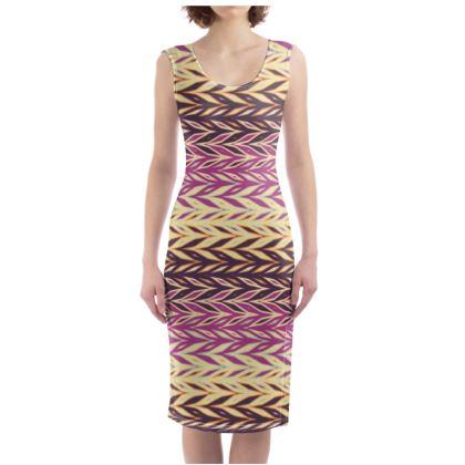 Zigzags Bodycon Dress