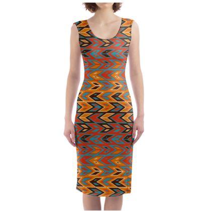 Tribal Chevron Bodycon Dress