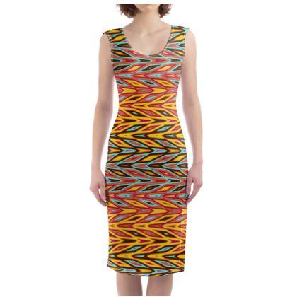 Exotic Zigzags Bodycon Dress