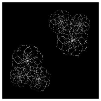 Black rose repeat cushion