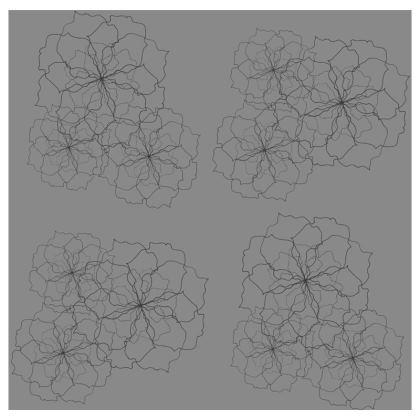 Grey rose repeat cushion