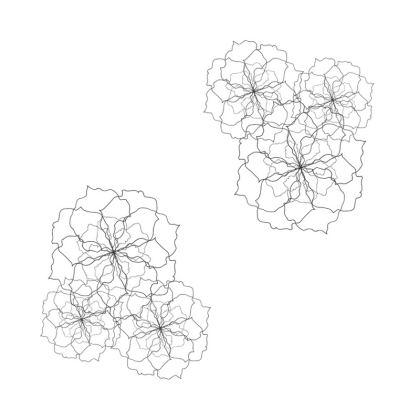 White rose repeat cushion