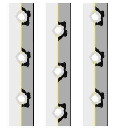 Graphic grey rose stripe cushion