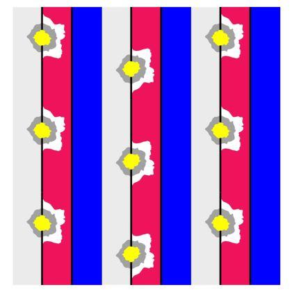 Graphic bright rose stripe cushion