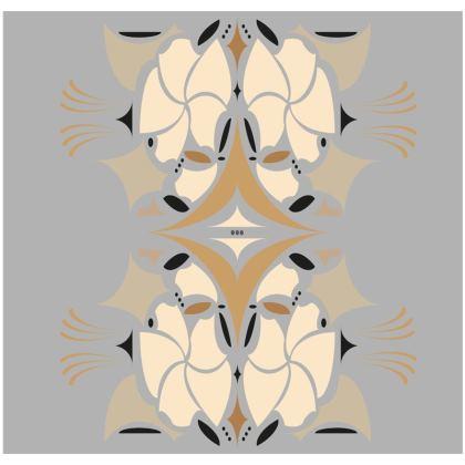 Grey and cream mosaic flower cushion