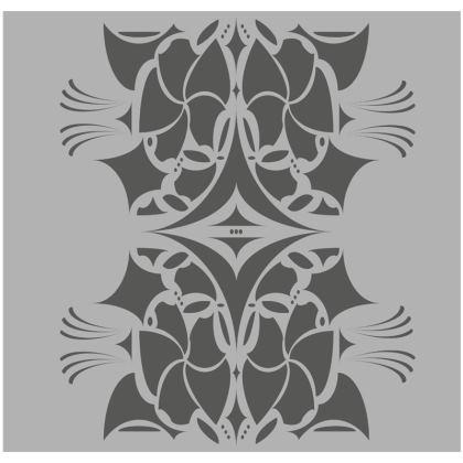 Grey mosaic flower cushion