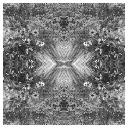 Grey flower garden cushion