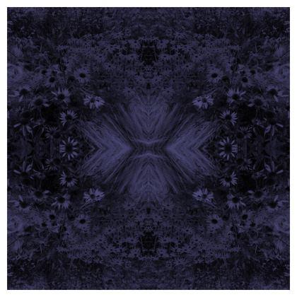 Blue flower garden cushion