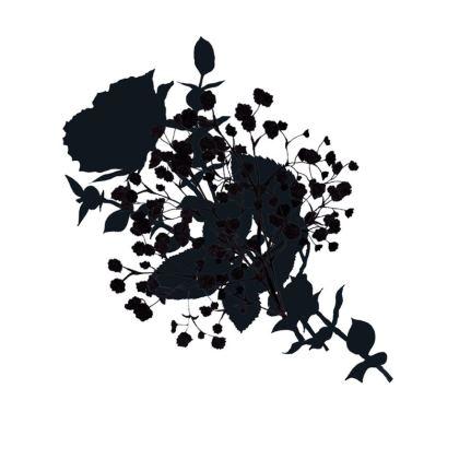 White bouquet cushion