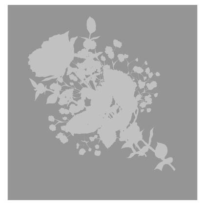 Grey bouquet printed cushion