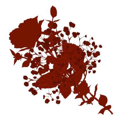Red Bouquet cushion