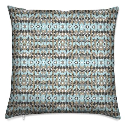 Tile mosaic green printed cushion