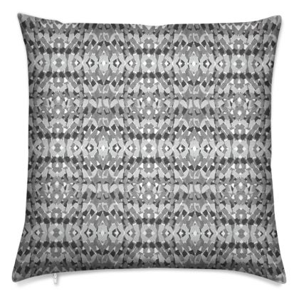Tile mosaic grey printed cushion
