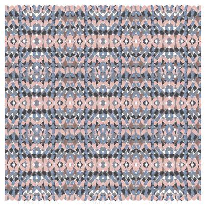 Tile mosaic pink printed cushion