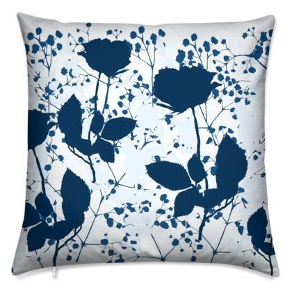 Floral artwork cushion
