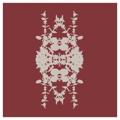 Geometric red cushion