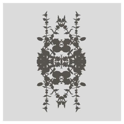 Geometric dark grey cushion