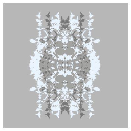 Geometric double grey cushion