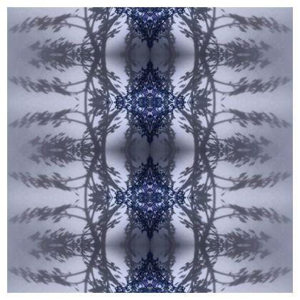 Floral reflection cushion- blue