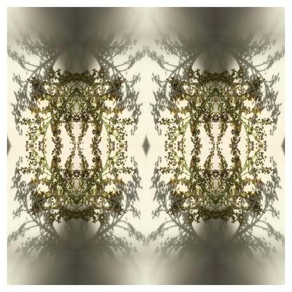 Floral reflection cushion