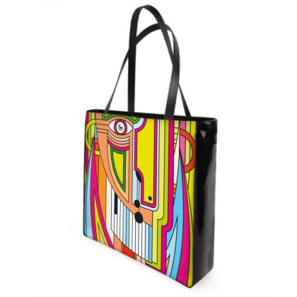 COLORS AND LINES - TOTEM, Shopper Bags