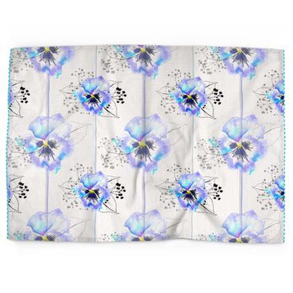 Pansy Tea Towels