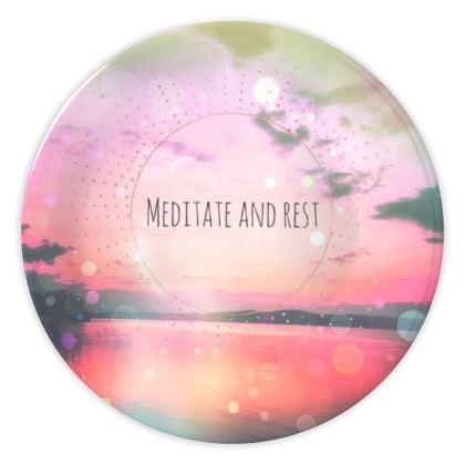 Meditate China Plates