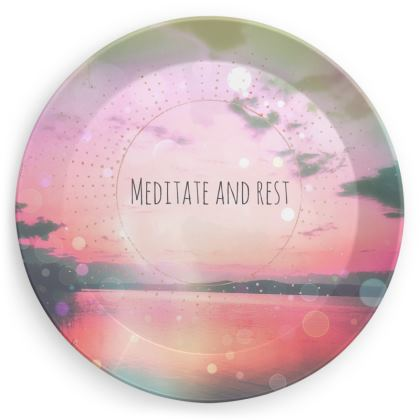 Meditate Party Plates