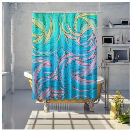 Shower Curtain - Sun Light Waves