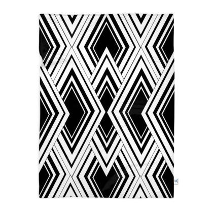 Blanket Art Deco Black And White