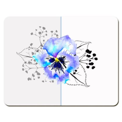 Pansy printed Placemats