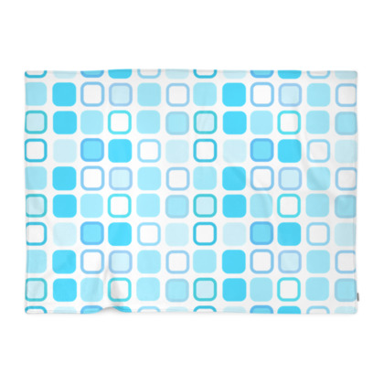 Retro Art Design Blue Blanket