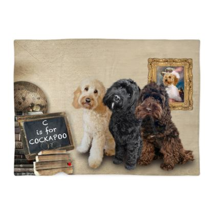 C is for COCKAPOO Blanket