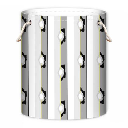 Graphic Rose striped Laundry Bag