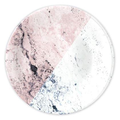ROSE & WHITE MARBLE - China Plates
