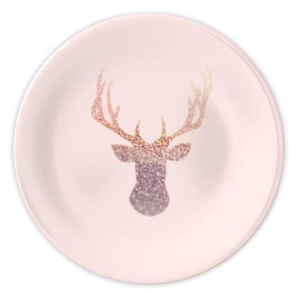 ROSEGOLD DEER BLUSH - China Plates