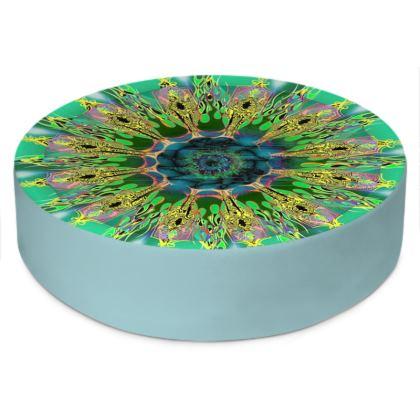 Round Floor Cushion, Galaxy Mandala